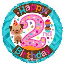 "Girl Girls 2nd Birthday Party Decoration 18"" Happy Birthday Foil Balloon"