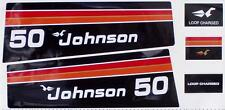 1975 Johnson Outboard hood decals 50 hp 2 cyl
