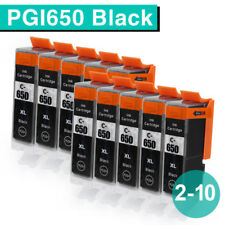 2-10 Black Inks for Canon PGI 650 xl BK PIXMA MG5460 MG5560 MG5660 MG6360 MG6460