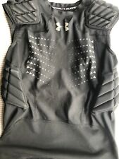 Under Armour Heatgear Youth Padded Football Compression Top Black Small
