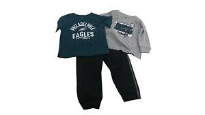 Philadelphia Eagles NFL Baby Infant Toddler Size 3 Piece 2 Shirts & 1 Pants Set