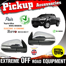 Toyota Revo Hilux Pick-Up 16-2017 Electric Wing Mirror Chrome O/S N/S MK8 M11M12