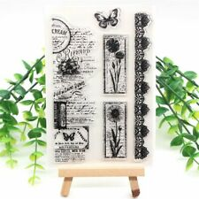 Vintage Transparent Clear Silicone Stamps for DIY Scrapbooking Card Making Kids