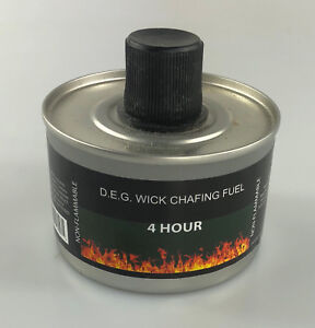 PACK of 5 x Chafing Dish Liquid Fuel Re-usable High Quality - 4 HOUR BURN
