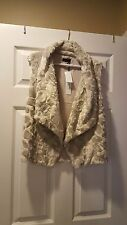 Women's Faux Fur Vest, Size Medium, Brand New with Tag