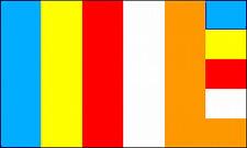 Buddhist Flag 3x5 ft Banner Buddhism India Nepal Buddha Zen Religion Faith Color