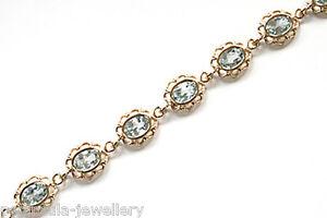 9ct Gold Blue Topaz Bracelet Made in UK Hallmarked Gift Boxed Birthday Gift