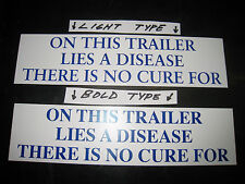 TRAILER BUMPER STICKER - CAR, DRAG, SKI, BOAT, MOTORCYCLE, ATV, SNOWMOBILE, ETC.