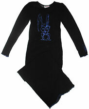 Malla Negro Azul Conejo Bunny Kawaii Vestido Largo Gótico Emo espeluznante niño gótico Anime