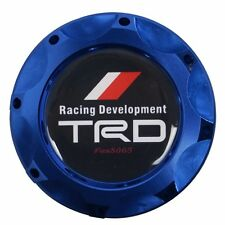 Engine Oil Fuel Filler Billet Cap Tank Cover Aluminum Blue For Lexus Racing TRD