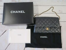 Chanel Clutch with Chain Classic Flap Black Quilted Caviar Leather Shoulder Bag