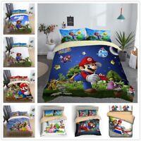 3D Super Mario Bros. Galaxy Kids Bedding Set Duvet Cover Quilt Cover Pillowcase
