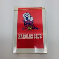 New Sealed Deck of Vintage Harolds Club or Bust Bridge Size Playing Cards