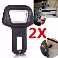 2pcs Car Seat Belt Clip Buckle Safety Alarm Stopper Canceller Bottle Opener