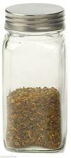 RSVP Retro Spice Jar Clear Square Glass Kitchen Storage SQR-BU