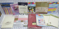 8 lbs Paper Pads Envelopes & Cards Rubber Stampin Card Crafting Lot assorted
