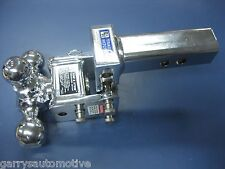 B&W Chrome Tow & Stow Tri-Ball Hitch Receiver 1 7/8 2 2 5/16 TS10047C Adjustable