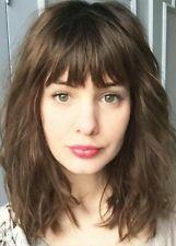 High Quality Wig New Fashion Gorgeous Women's Medium Natural Dark Brown Wavy Wig