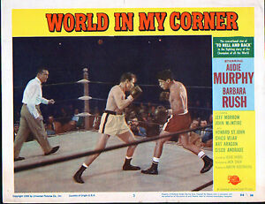 WORLD IN MY CORNER original 1956 BOXING movie poster AUDIE MURPHY/CHICO VEJAR