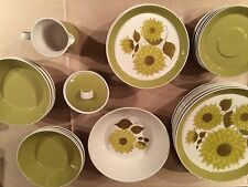 Vintage Mid Century Mikasa Duplex 44 Pc Dinnerware Set By Ben Seibel D3400 MINT!