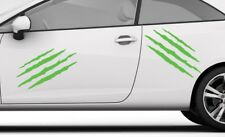 2X CLAWS GRAPHIC LIME GREEN VINYL DECAL STICKER Car Van Window SMOOTH SURFACE