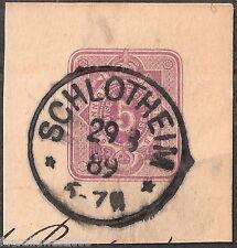 Deutsches Reich Ziffer im Oval MiNr. 32 Ganzsachen Ausschnitt Schlotheim 29 9 89
