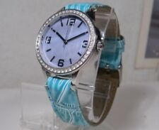 LN Womens FMD Blue Mother of Pearl Dial Gemmed Watch New Battery 2 Year Warranty