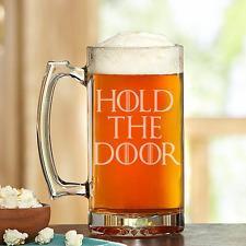 Game of thrones- HOLD THE DOOR- Custom Made Beer Stein