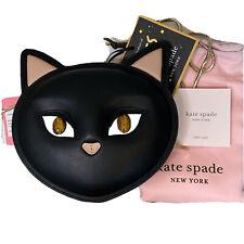 Authentic Kate Spade X Cats Meow Leather Crossbody Handbag Black New w Tags