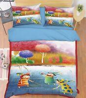 3D Jungle Children 5 Bed Pillowcases Quilt Duvet Cover Set Single Queen AU Carly
