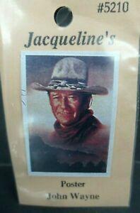 miniature dollhouse john wayne poster art by jacqueline's 1:12 nip