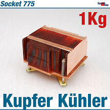 CPU PROCESSOR COOLER KÜHLER INTEL SOCKET 775 MASSIV KUPFER COPPER S775 1KG U335