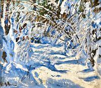 painting Zvyagintsev art impressionism vintage Winter landscape original picture
