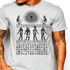 Egyptian T-Shirt Egypt Hieroglyphics Pharaoh Men Cotton Tee Size S-2XL, new