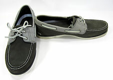 Timberland Boat Shoes Classic 2 Eye Suede Gray/Dark Gray Topsiders Size 13