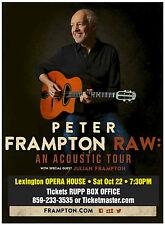 """PETER FRAMPTON """"RAW: ACOUSTIC TOUR"""" 2016 KENTUCKY CONCERT POSTER - Classic Rock"""