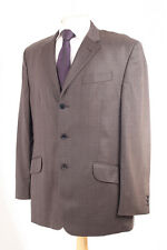 NEXT BROWN PANE CHECK MEN'S SUIT 42R DRY-CLEANED