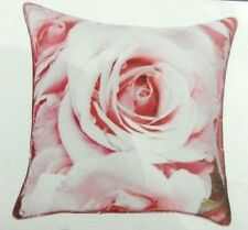 Pillow Cover Decorative Home Decor Zipper 18x18 Square Blush Pink Rose Floral
