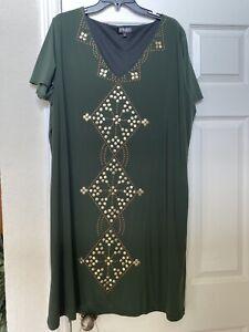 Spirited Randolph Duke Dress 2x Green Gold