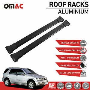 Roof Rack Cross Bars Luggage Carrier Black for Mercedes Benz ML W163 1998-2005