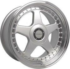 "Alloy Wheels 17"" Dare Dr-f5 Silver Polished Lip for FIAT 500 Abarth 08-17"