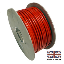 10 METERS RED  10mm - 70 AMP THIN WALL AUTO CABLE WIRE CAMPERVAN MOTORHOME