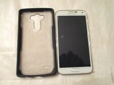 SAMSUNG GALAXY S5 SMART PHONE  FOR PARTS OR REPAIR, WILL NOT POWER ON, WITH CASE
