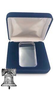 Air-tite Silver or Gold Bar Holder Capsule Velvet Display Steel Storage Box Case