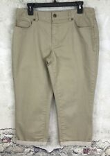 Coldwater Creek Natural Fit Women's Cropped Leg Size 12 Brown #C1