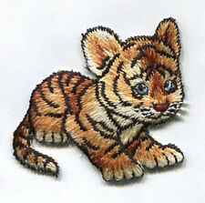 BABY TIGER EMBROIDERED IRON ON APPLIQUE 3847-Y