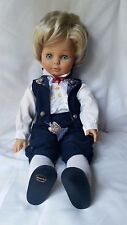 """Vintage 1988 Engel Puppe doll 19"""" West Germany Beautiful clothes vinyl cloth"""