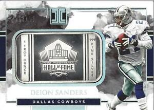 2018 Deion Sanders Panini Impeccable Hall of Fame Troy 1 Ounce Silver 13/15