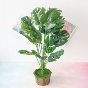Artificial Plants Turtle Leaf Tropical Large Palm Tree Leaves Imitation Leaf