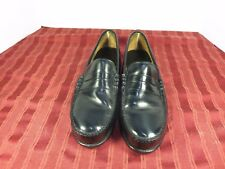 Lehigh Black Leather Safety Shoes Penny Loafer Composite Toe  Men Size 10D